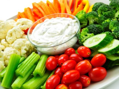 מגש ירקות טריים
